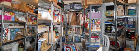 My cluttered life and mind in my pantry.